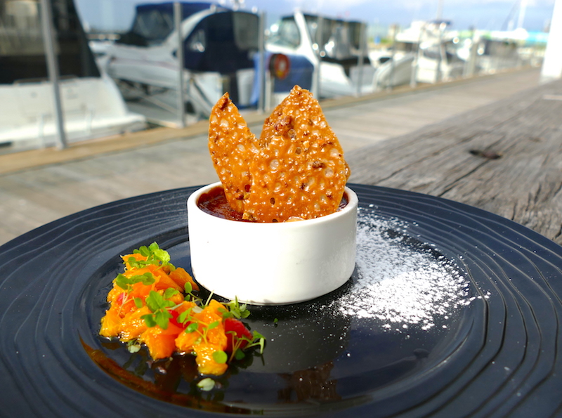 dessert local dining thursdays 360q queenscliff waterfront dining meals specials harbour duck fritters brulee mushroom gnocchi
