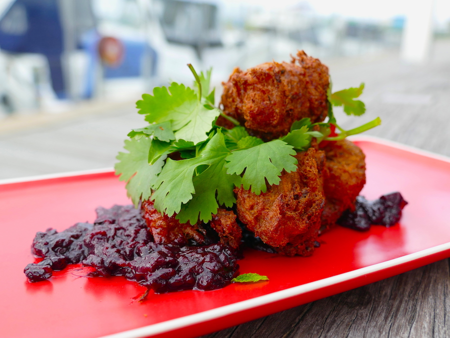 Duck fritters
