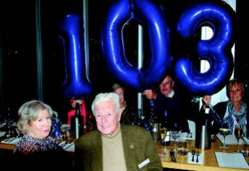 Ron Ruffin celebrated his 103rd birthday with his family and dear friend Elinor Ryan at 360Q.