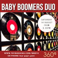 Baby boomer duo tribute show 360q queenscliff
