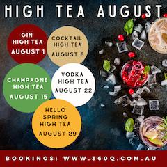 high tea cocktails 360Q queenscliff
